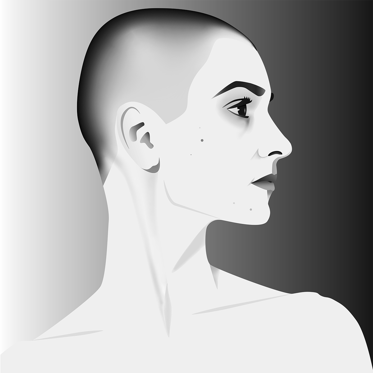 Sinead O'Connor Digital Portrait